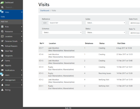 Visits Custody App