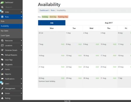 Calendar software app