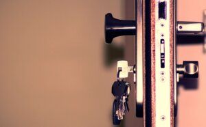 lock with keys in